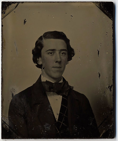 LOVELY RUBY AMBROTYPE ELEGANT YOUNG MAN in SIMPLE PORTRAIT CLASSIC