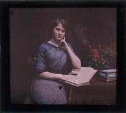 fp2165 (AutoChrome-Woman-w-Book)