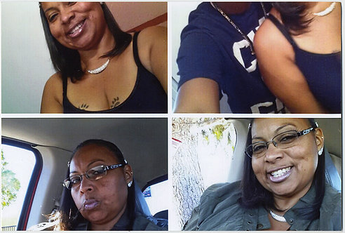 FOUR PART QUADRANT MULTI-PIC AFRICAN-AMERICAN WOMAN & BAD HEADLESS CROP MISTAKE