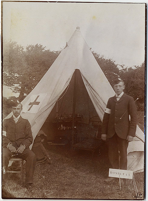 AMAZING FIELD HOSPITAL TENT and MEDICS WWI?