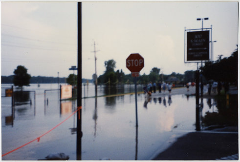 GORGEOUS FLOOD WATERS REFLECT WATER-LOGGED STREET COMPOSITION