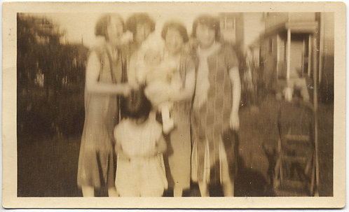 JITTERY BLURRY IMPRESSIONISTIC FAMILY PHOTO WOMEN INFANT & YOUNG GIRL