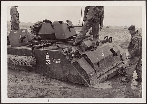 ALBUM PAGE: VIETNAM? KOREAN? WAR 4 images: BOGGED DOWN in MUD!