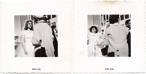 ALWAYS the BRIDESMAID NEVER the BRIDE TRAGIC WEDDING DIPTYCH NARRATIVE SEQUENCE