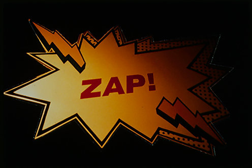 ZAP!!! 35mm COLOR SLIDE gets in touch with its COMIC BOOK HERITAGE