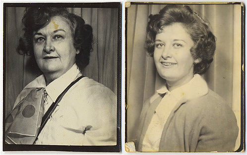 SAME WOMAN? 2 STAGES of LIFE PASSING OF TIME PHOTOBOOTH