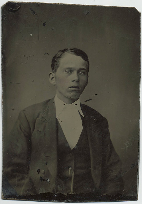 SIMPLE but LOVELY Tintype PORTRAIT of YOUNG BOY!
