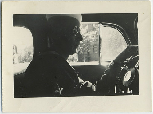 NAVY SAILOR in SILHOUETTE DRIVES CAR WEARING SHADES