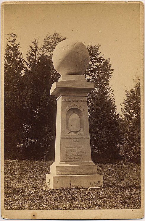 PACH BROS AMERICAN FOREIGN MISSIONS HAYSTACK MONUMENT WILLIAMS COLLEGE MA