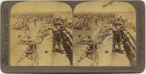STEREOVIEW BOER WAR ROYAL MUNSTER FUSILIERS Honey Nest Kloof South Africa