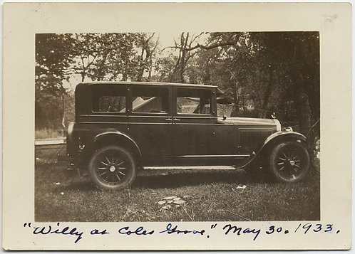 A CAR NAMED WILLY at COLES GROVE VINTAGE AUTOMOBILE May 30 1933