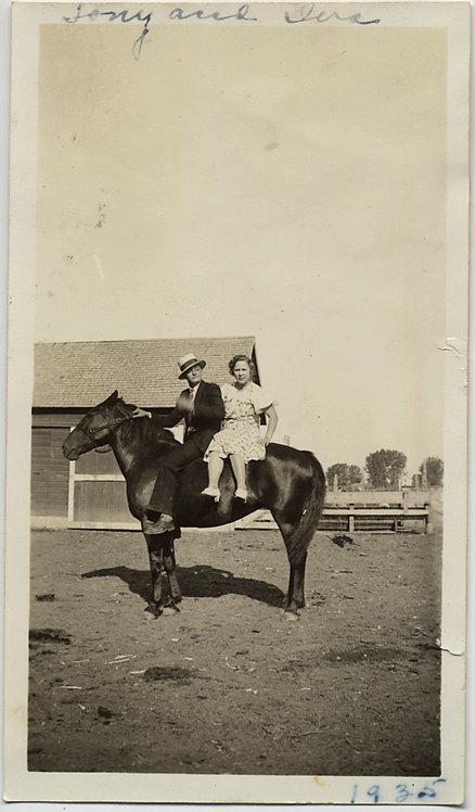 TONY & TINA BEFORE THE WEDDING? on HORSEBACK TINA ABDUCTED!