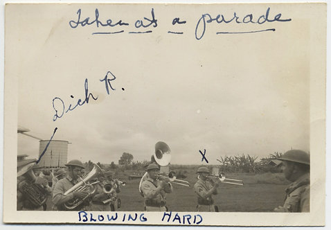 DICK BLOWS HARD in BRASS BAND on PARADE BAND AWESOME CAPTION
