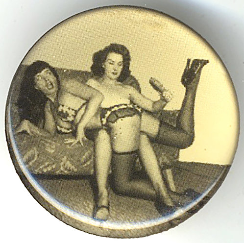 SAUCY SEXY BETTY PAGE is SPANKED w HAIRBRUSH in BUTTON INSERT