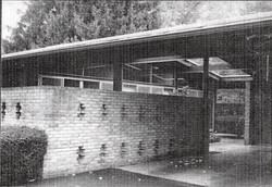 Detail of carport