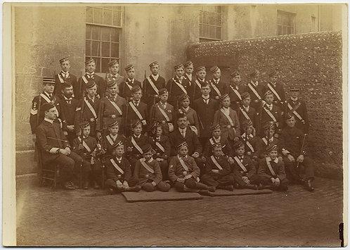 BRIGHTON BOYS BRIGADE MINI ARCHIVE 14 pics + 2 PRESS CLIPPINGS 1899-1901