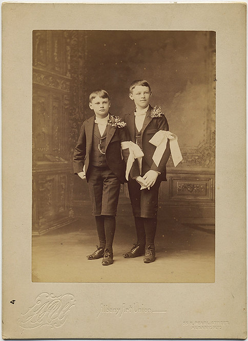 GORGEOUS CUTE HAND HOLDING COMMUNION BOYS ALBANY ART UNION STUDIO ID Tracey 1898
