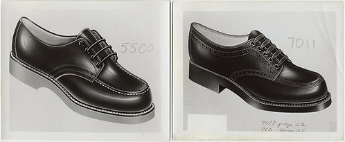 These SHOES were MADE for WALKING VINTAGE SALESMAN SHOE STYLE ARTWORK 2 pics
