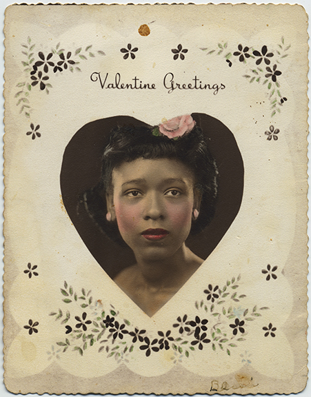 fp6339(AfricanAmericanWoman_ValentineGreetingsCard_Heart_Tinted)