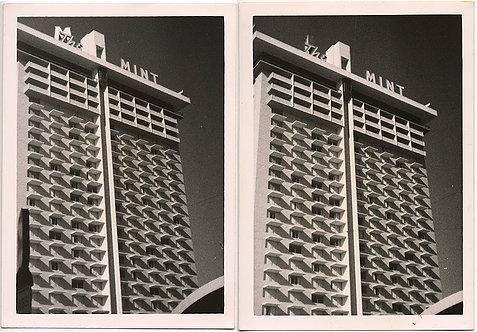 MID-CENTURY MODERN VEGAS HOTEL! 2 pics w GREAT TONALITY!