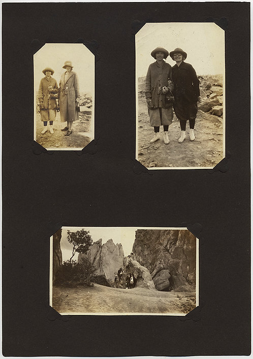 ALBUM PAGE w WOMEN TOGETHER & GROUP VISITING NATIONAL PARK GARDEN of GODS?