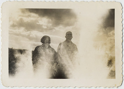 COUPLE CAUGHT in LIGHT LEAK INFERNO against AWESOME DRAMATIC CLOUDY SKY