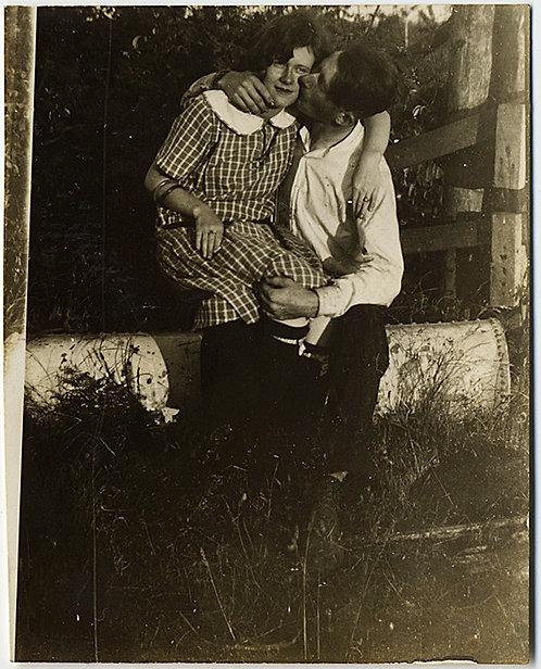THE KISS!  MAN LOCKS LIPS onto GIRL LOOKING at CAMERA!