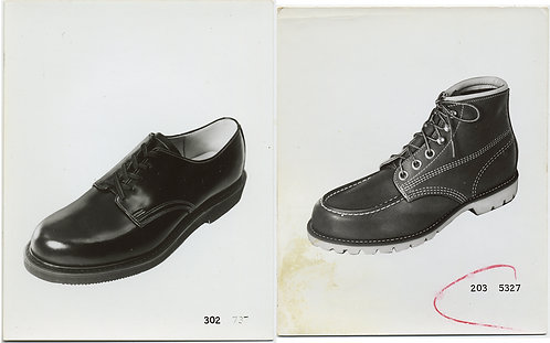 LACE UP BOOTS & SHOES SALESMAN INVENTORY SAMPLE PICS MINIMAL GLORY