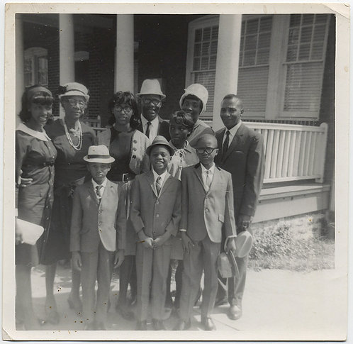 FABULOUS AFRICAN AMERICAN FAMILY ALL DRESSED UP for CHURCH 3 GENERATIONS