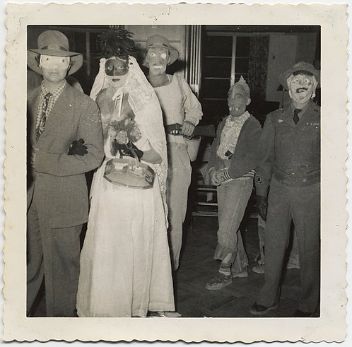SUPERB PARADE of STRANGE UNUSUAL PARTY GOERS in WEIRD MASKS