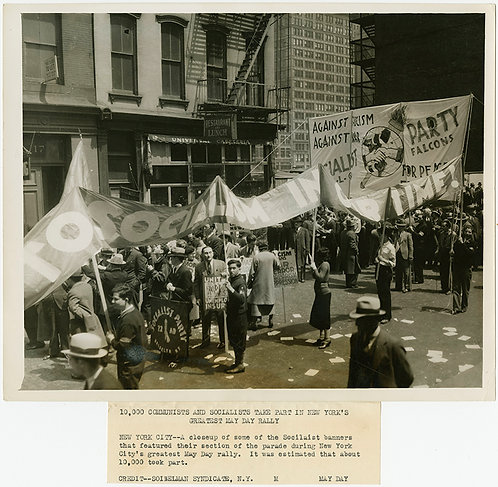 PRESS PHOTO COMMUNISTS SOCIALISTS Oh my MAY DAY ANTI FASCISM MARCH RALLY BANNER