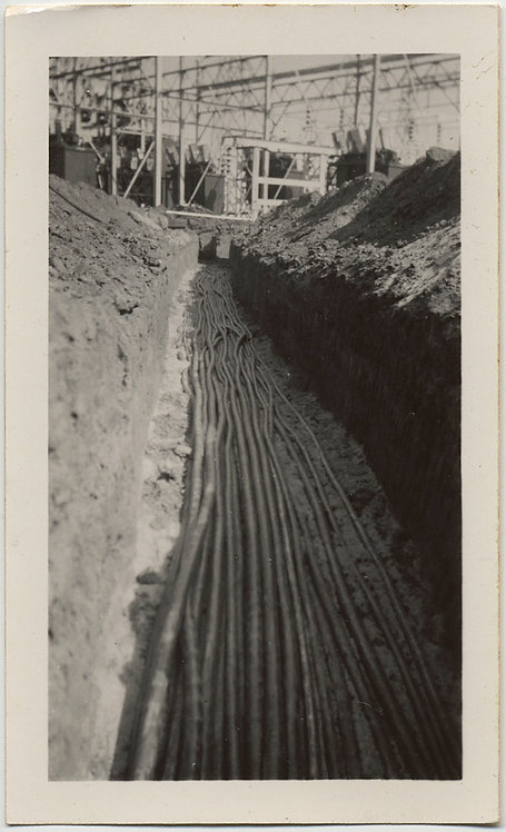 UNUSUAL TRENCH w ELECTRICITY CABLES from POWER STATION