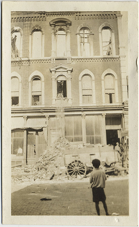 HEARTBREAKING YOUNG BOY WATCHES DEMOLITION DESTRUCTION of BOMBED? DESTROYED BLDG