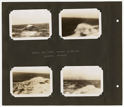 SUPERB MUSEUM QUALITY ALBUM PAGE WWII ATLANTIC SEASCAPES ADM RODMAN LIFE RAFTS +