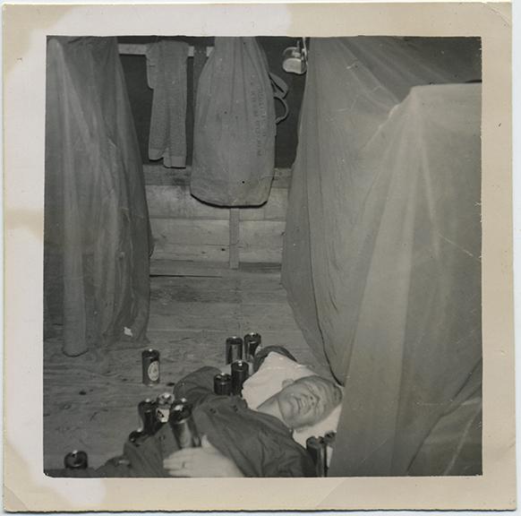 fp5802(Soldier_MilitaryBarracks_Sleeping_SurroundedByBeerCans)