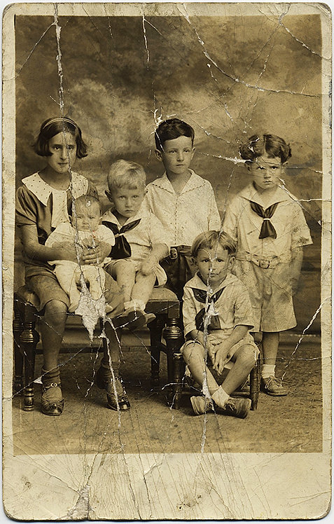 STUPENDOUS MUCH LOVED & USED IMAGE of CHILDREN (RPPC)