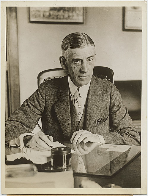 """PRESS PHOTO NATIVE AMERICAN RACIAL PATERNALISM Charles Rhoads """"Foster Father"""""""