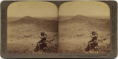 STEREOVIEW BOER WAR Orange Free State 12 Brigade Camp Slingersfontein SA