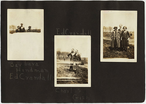 STRANGE COUPLES ANNOTATED ALBUM PAGE 1923 WHITE OUTS LIGHT LEAKS +