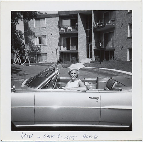 VIV & HER HOT CAR! WOMAN DRIVER in CONVERTIBLE & APARTMENT BUILDING