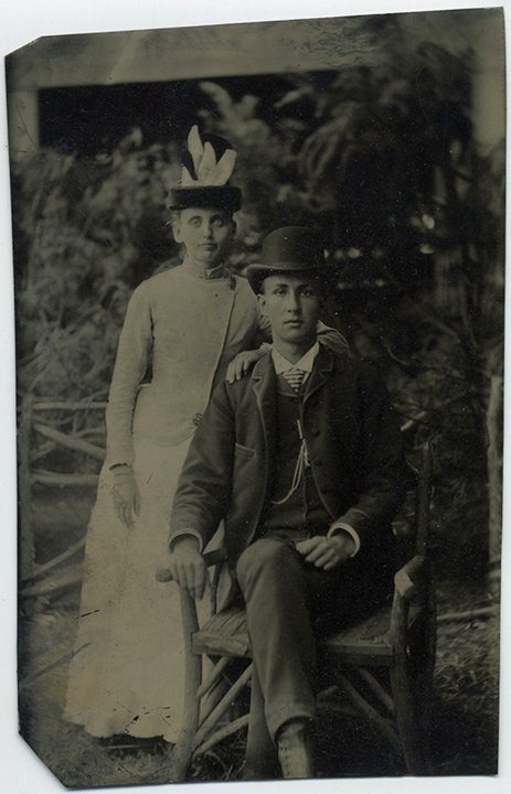 SARATOGA COUPLE pose for elegant tintype!