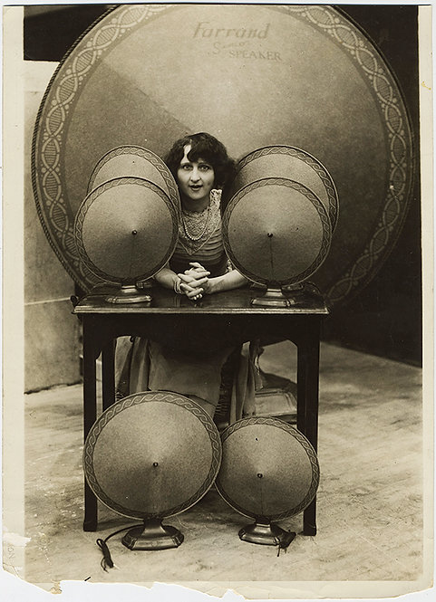 EXTRAORIDNARY PRES/ADVERTISING! EARLY AUDIO CONE SPEAKER FARRAND!