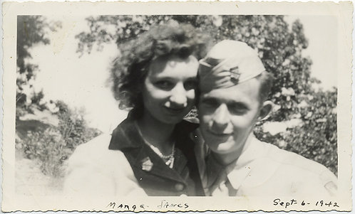 MARGE & SERVICEMAN SOLDIER JAMES in TOUCHING INTIMATE COUPLE PORTRAIT