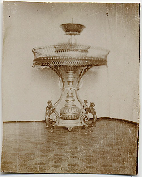 TINY pic of ELABORATE METAL & GLASS DIPLAY FOUNTAIN?