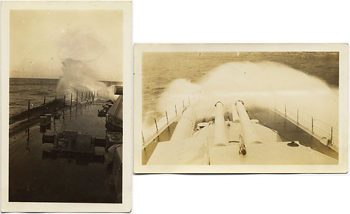WAVES BREAK OVER DECK and BOWS of WARSHIP DESTROYER