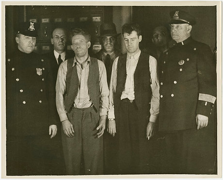 PRESS PHOTO DISHEVELED CRIMINALS JAILBREAKING KIDNAPPERS Oley, Crowley, Geary