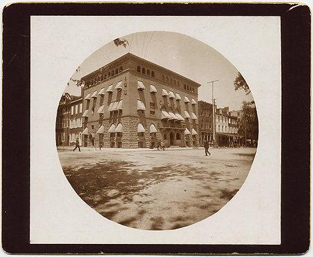 SUPERB KODAK #2 ROUND PHOTO HARRISBURG CLUB HOUSE BUILDING 1897 Grant Shirk
