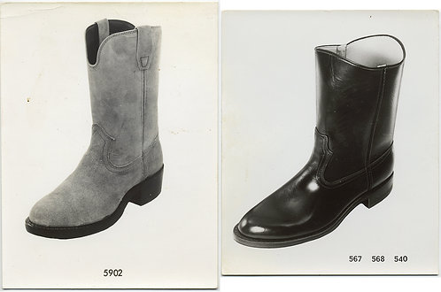 TWO BOOTS SALESMAN STYLES SAMPLE