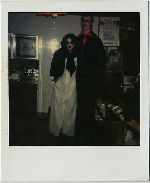 HALLOWEEN COUPLE  DRESSED as VAMPIRES in POLAROID COSTUME MADNESS