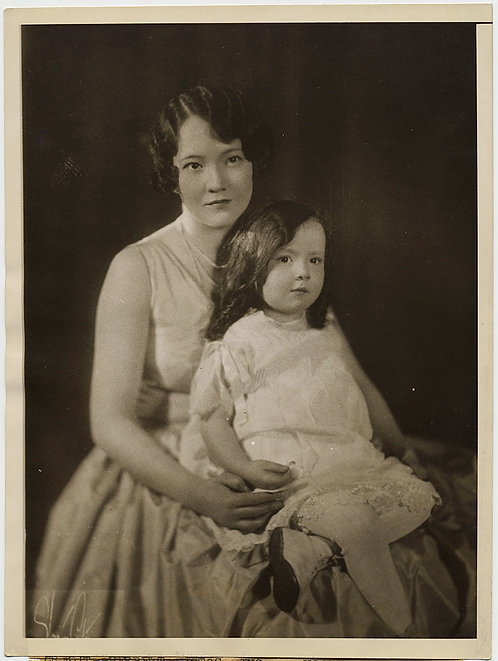 PRESS PHOTO HOLLYWOOD MURDER LOVE TRIANGLE SCANDAL Dorothy Mackaye & daughter